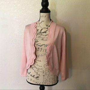 Cable & Gauge Light Pink Shrug Cardigan